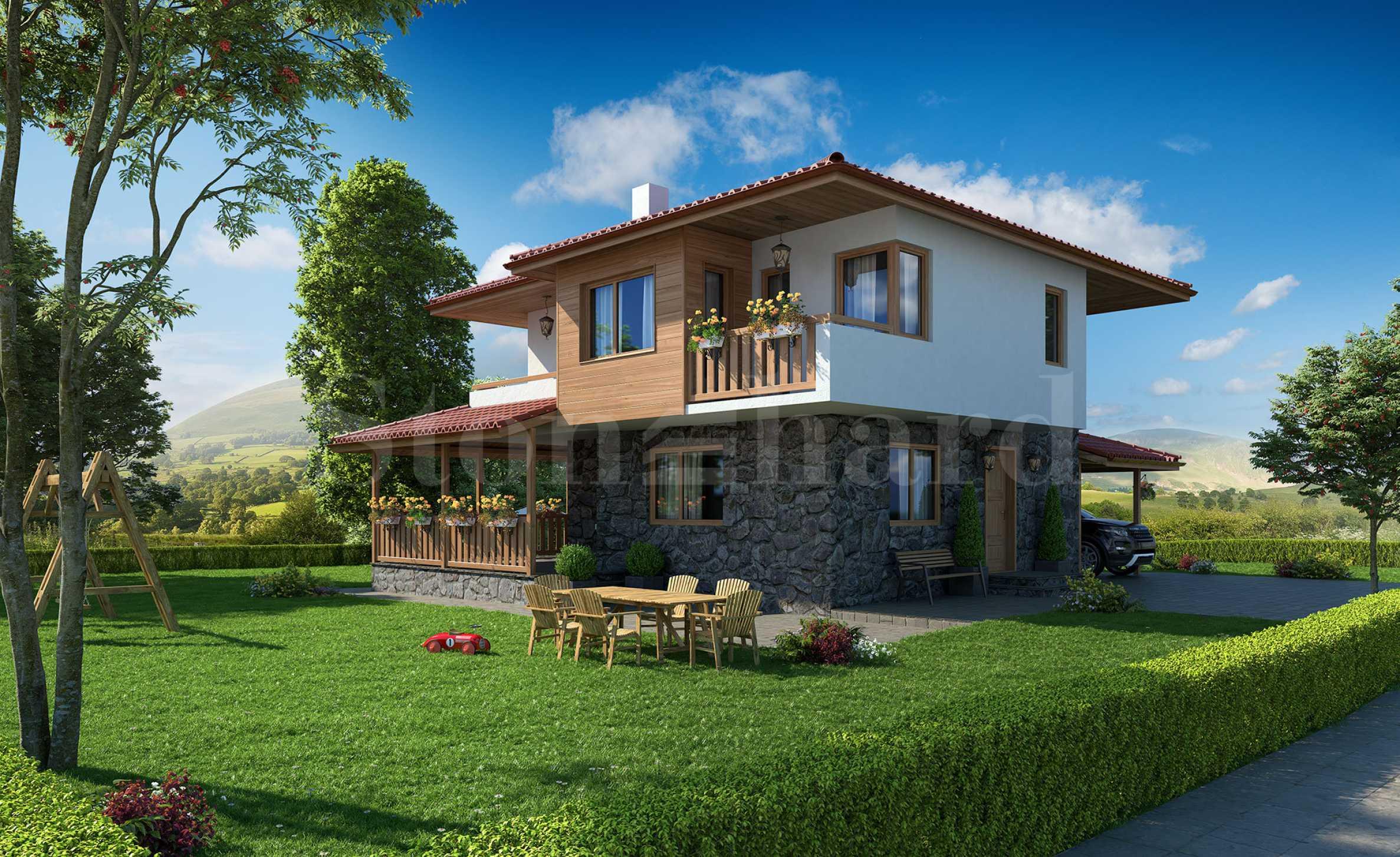 Къщи ново строителство във вилно селище до Бургаски минерални бани в кв. Банево1 - Stonehard