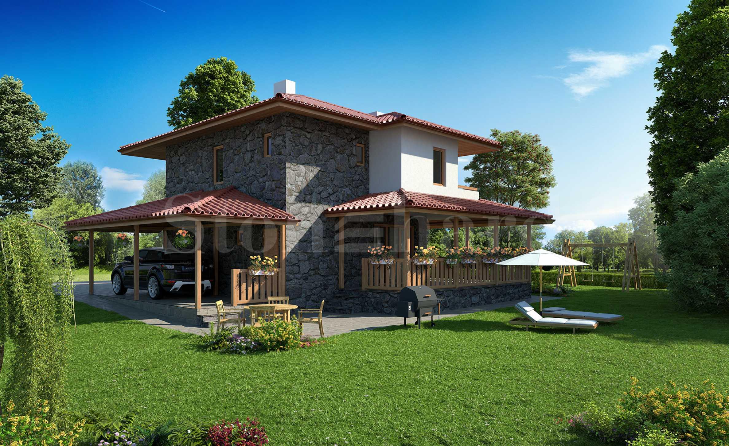 Къщи ново строителство във вилно селище до Бургаски минерални бани в кв. Банево2 - Stonehard