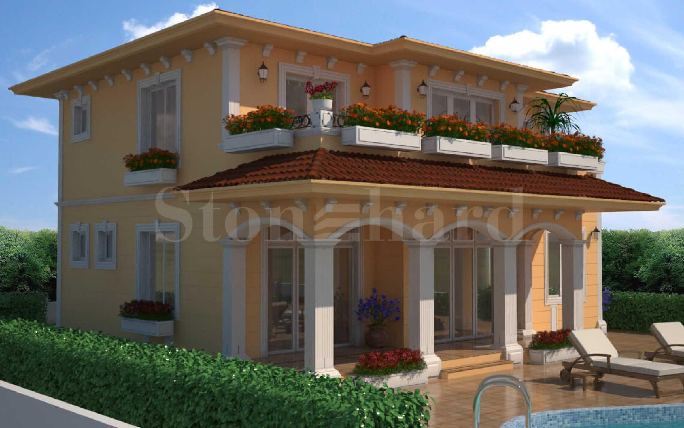 Комплекс от вили в различен стил в еко-района на Каблешково, близо до  Поморие2 - Stonehard