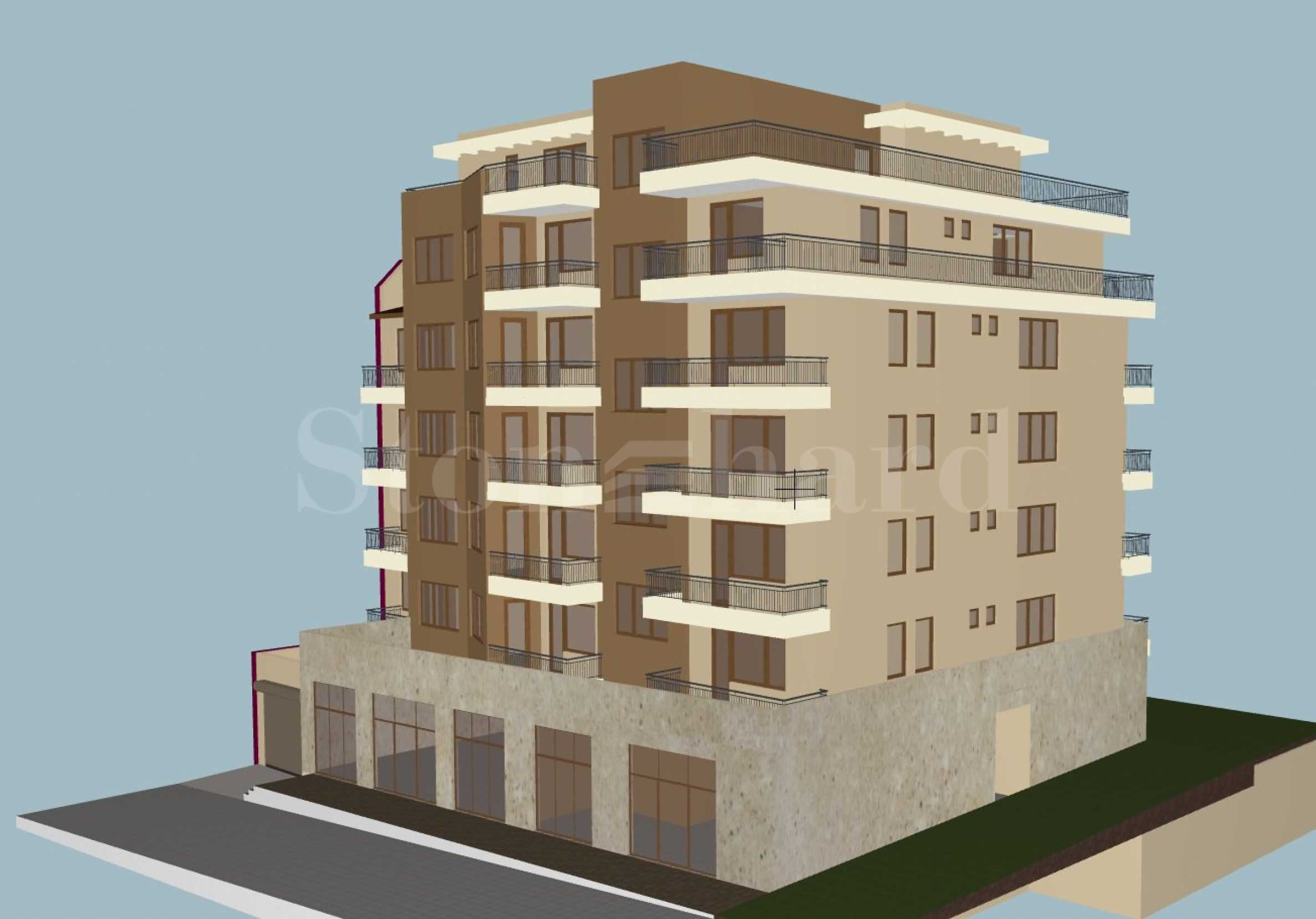 Apartments in a new residential building in Meden Rudnik quarter 2 - Stonehard