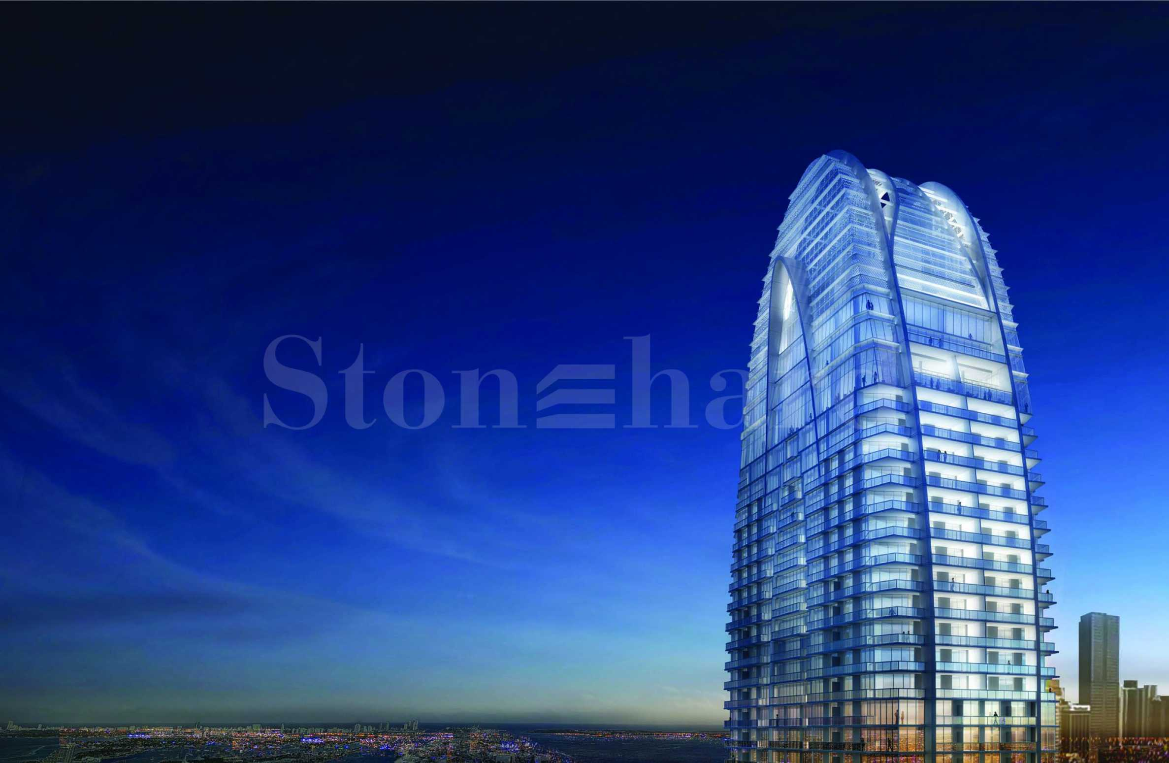 Skyscraper with luxury apartments and penthouses in Miami Florida1 - Stonehard