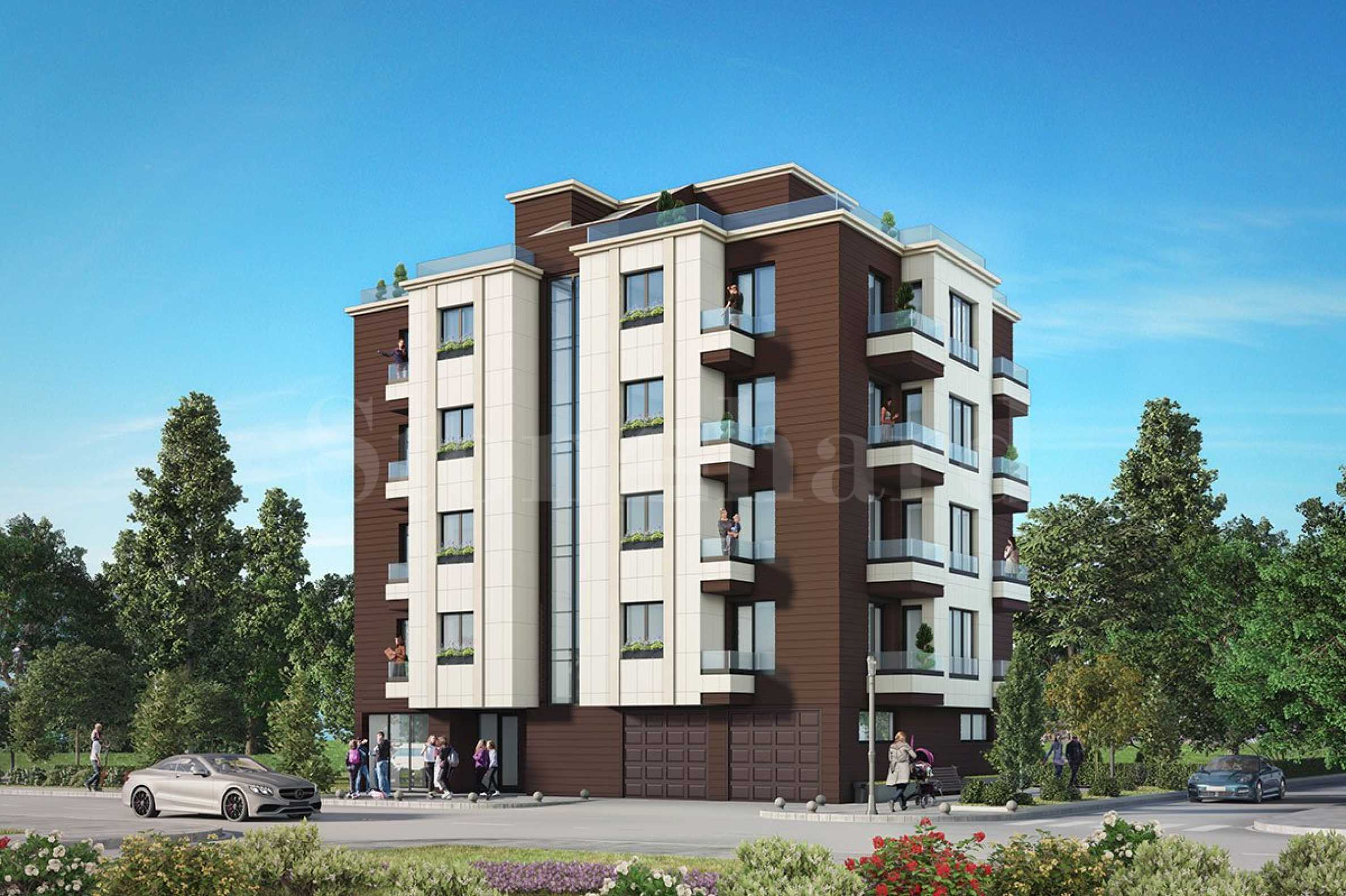 Functional apartments with garages on a quiet street near Bulgaria Blvd1 - Stonehard