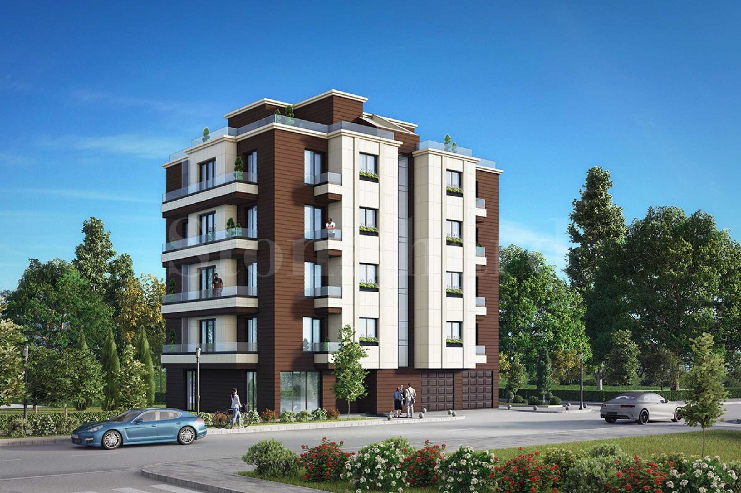 Functional apartments with garages on a quiet street near Bulgaria Blvd2 - Stonehard