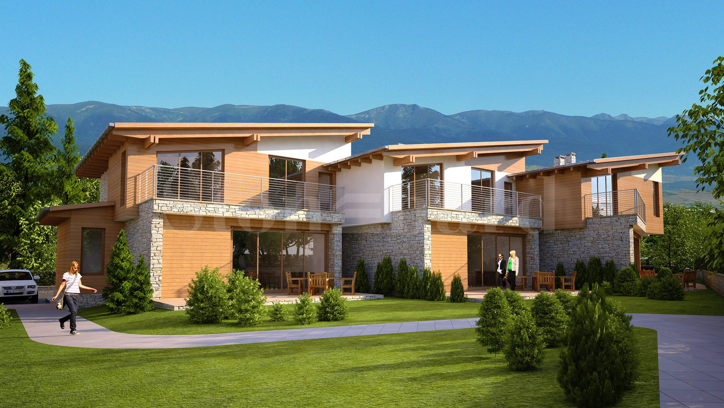 Turn key/ furnished villas at the foot of the mountain in Bansko1 - Stonehard