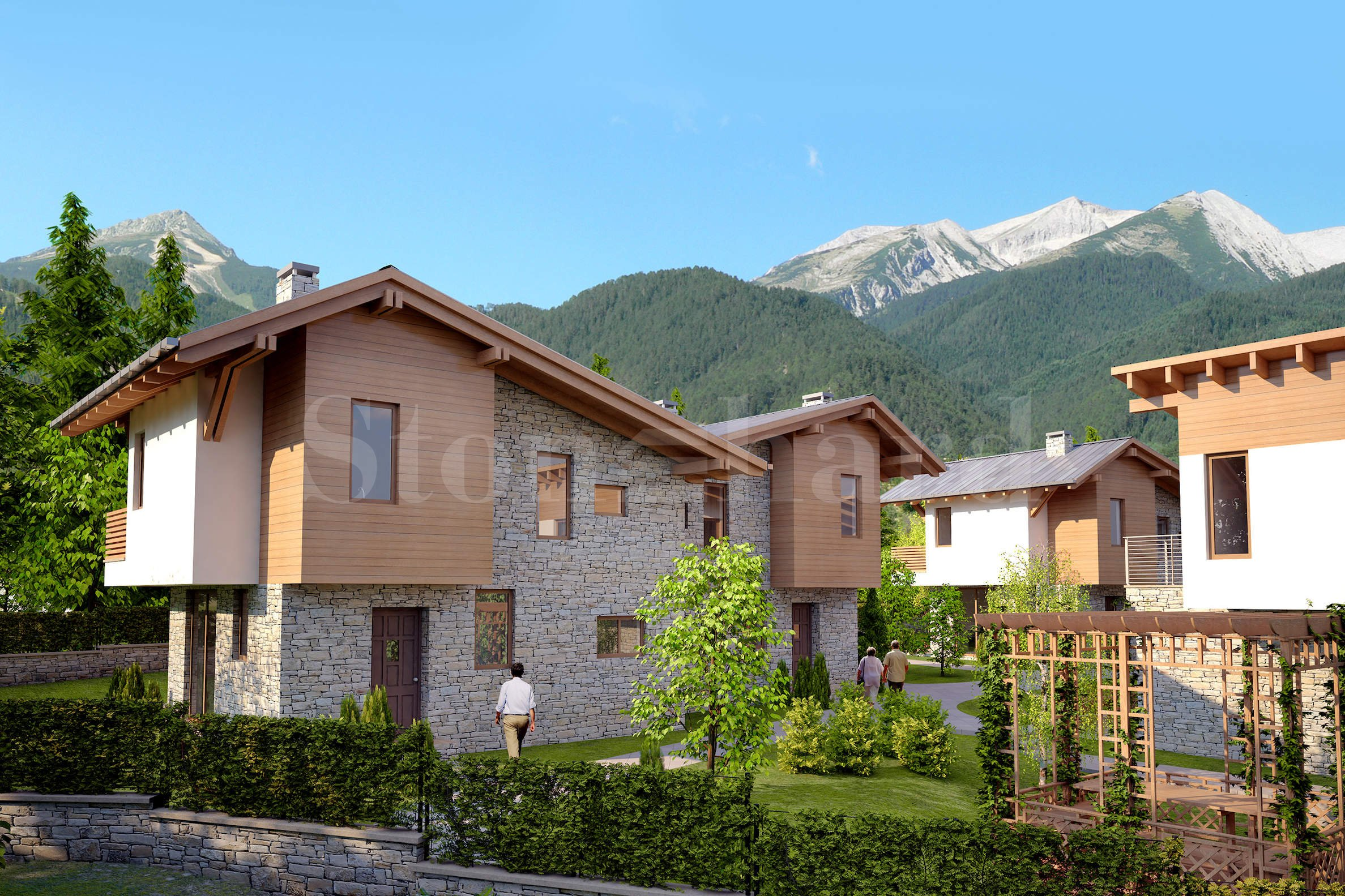 Turn key/ furnished villas at the foot of the mountain in Bansko2 - Stonehard