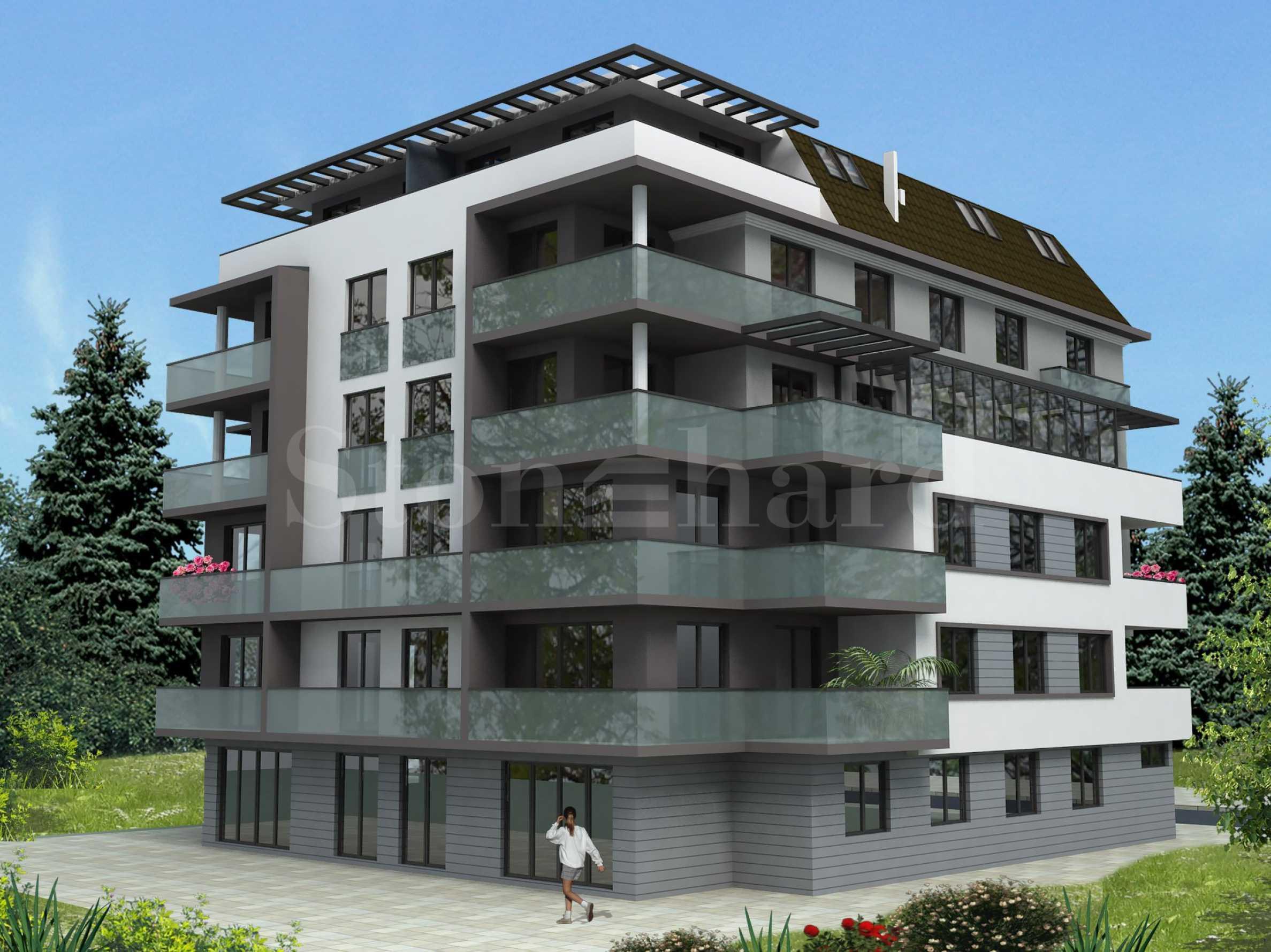 Луксозна и кокетна сграда с гаражи в широк център на Велико Търново 1 - Stonehard