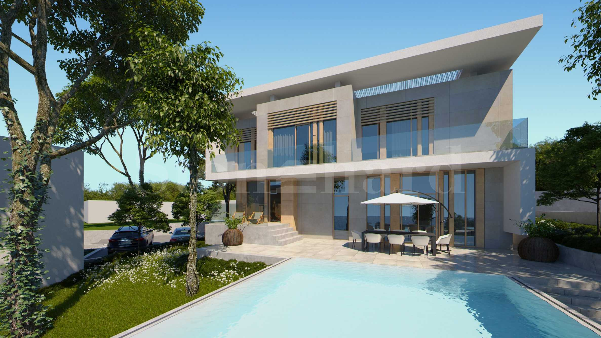 Turn-key houses with pools, verandas and parking spaces in a coastal complex near Sozopol1 - Stonehard