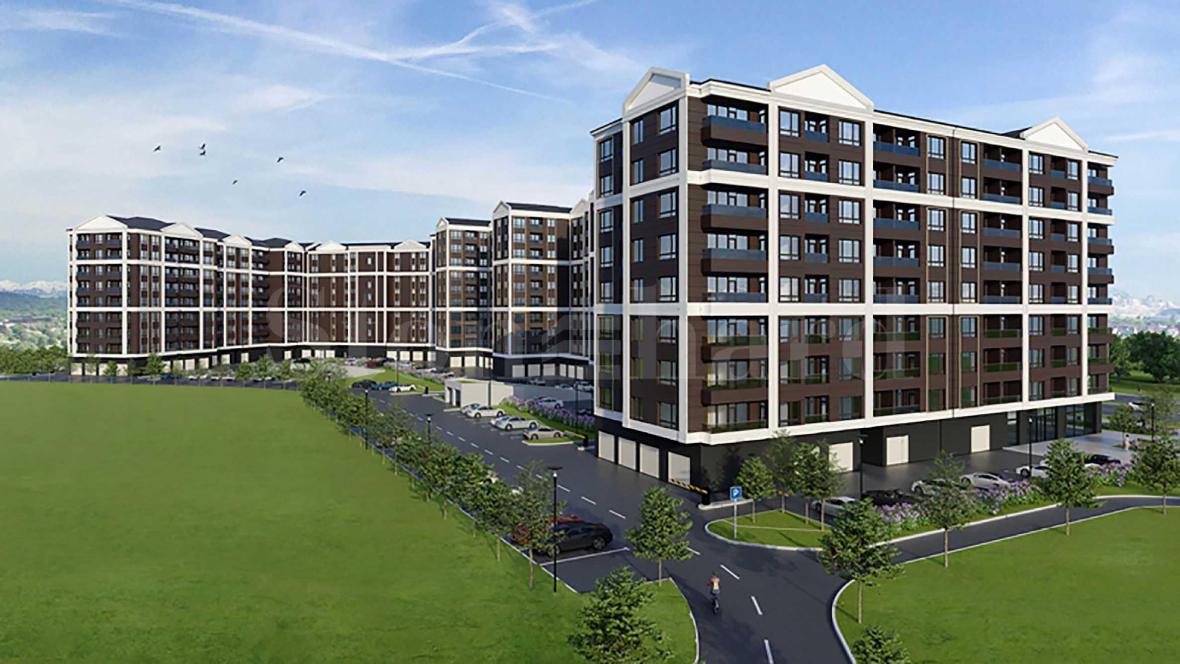 Многофункционален комплекс с апартаменти и магазини в кв.