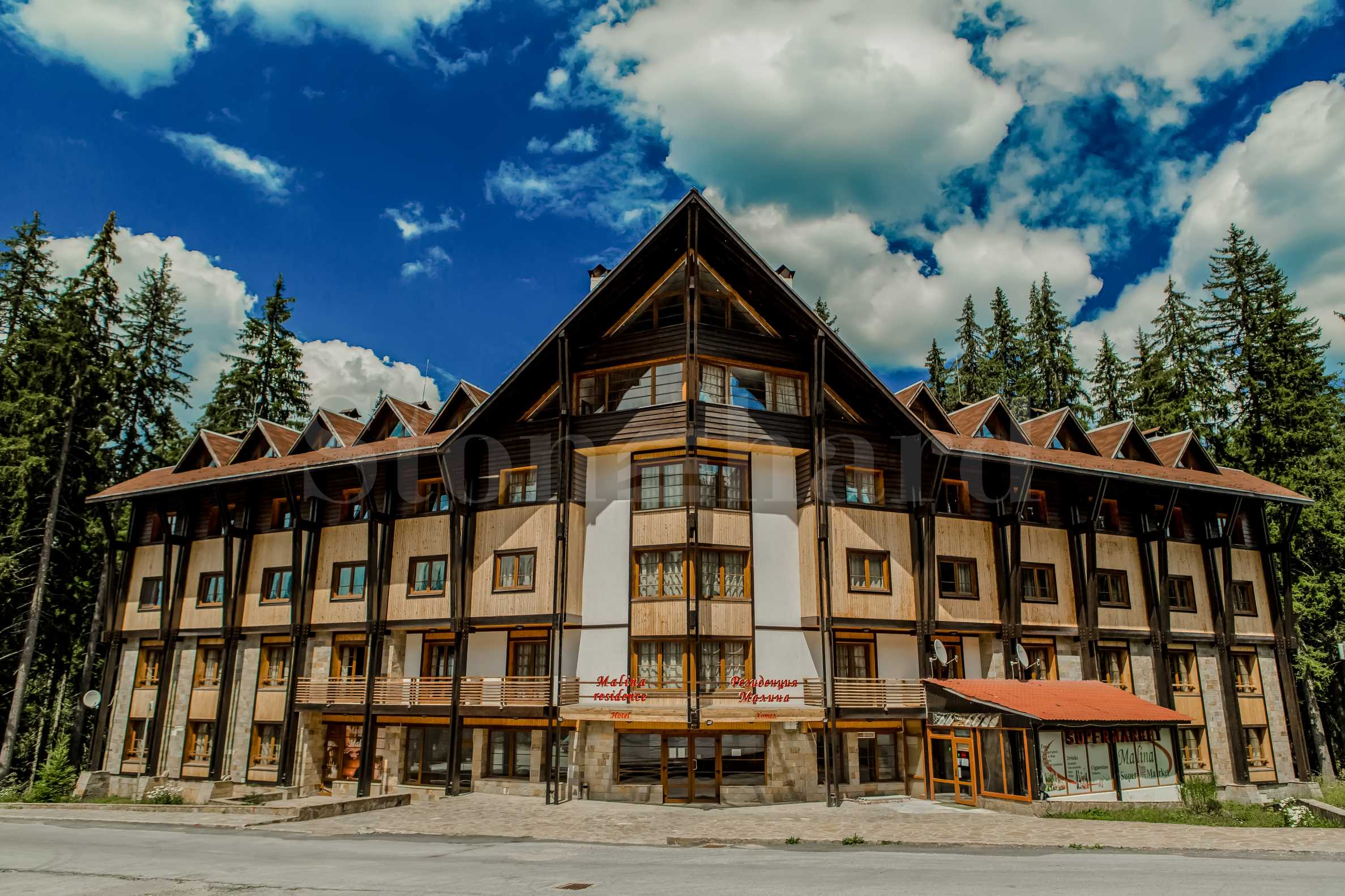 Hotel and villas for sale near the ski pistes in Pamporovo mountain resort1 - Stonehard