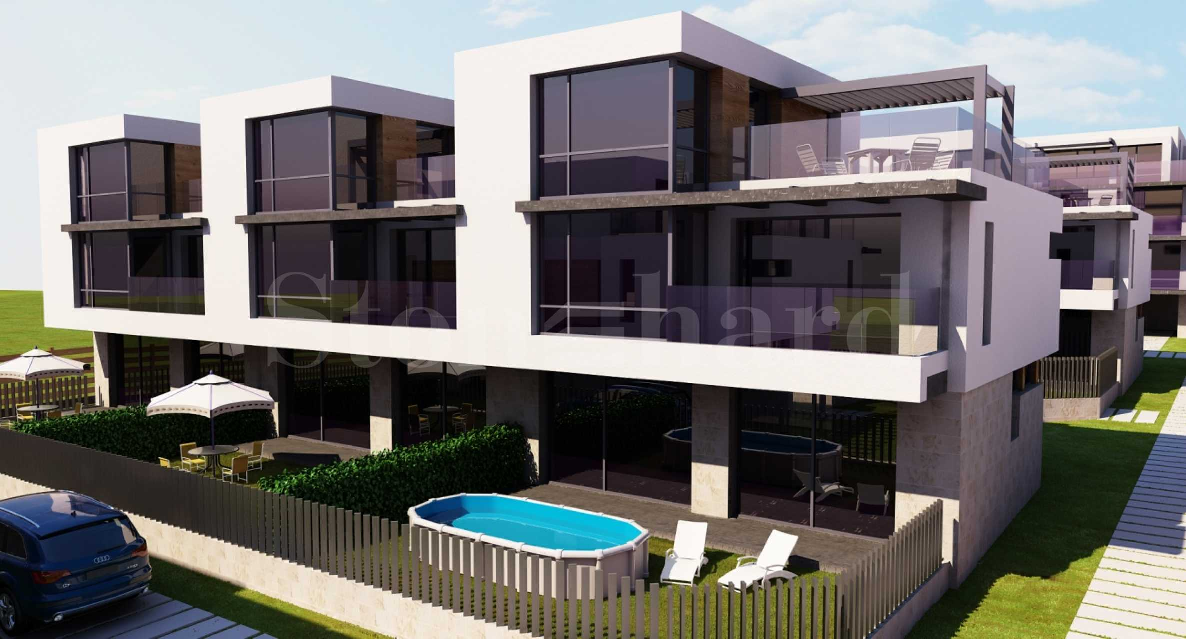 Modern houses with gardens in a newly built waterfront complex in Burgas2 - Stonehard