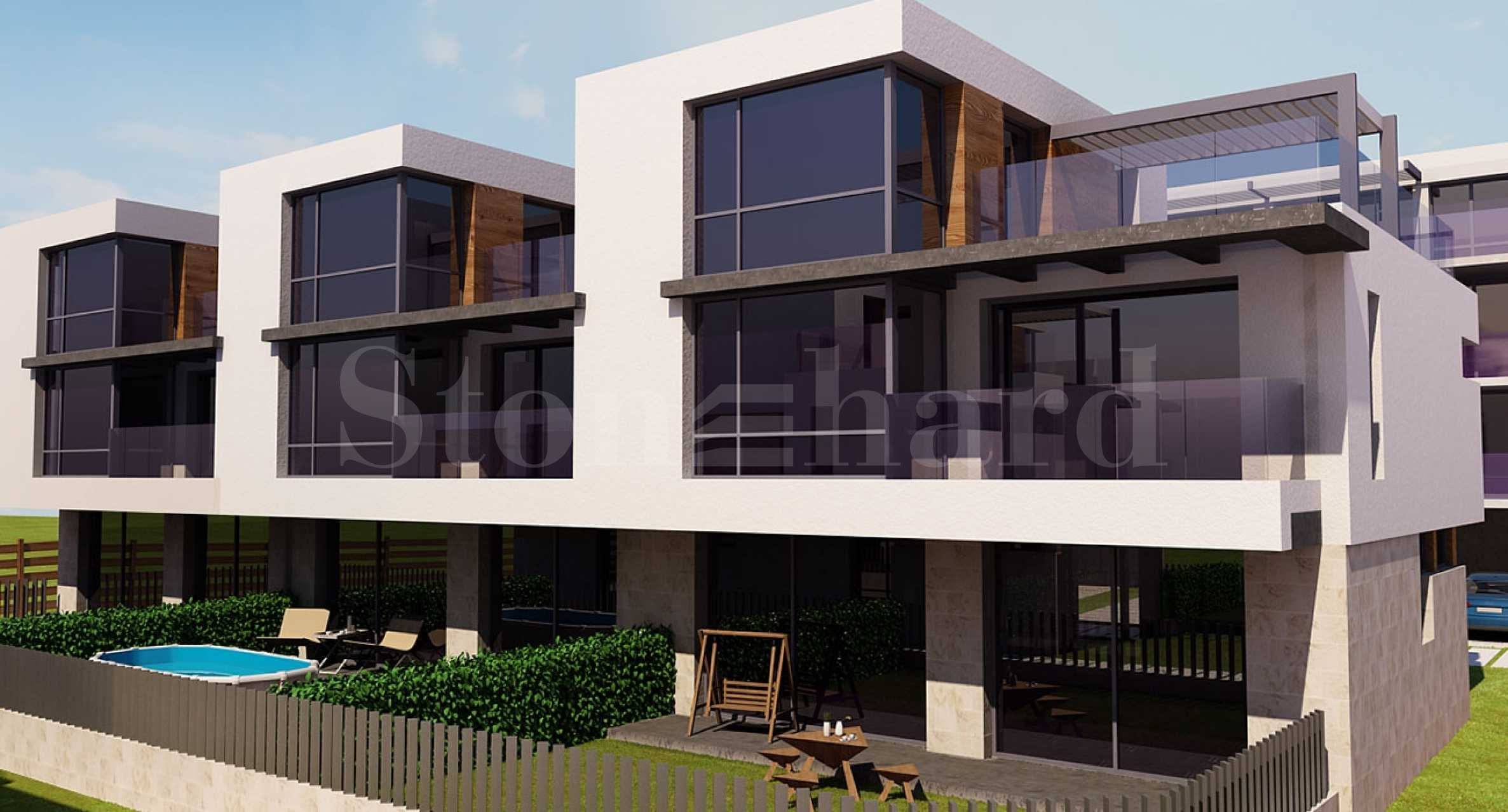 Modern houses with gardens in a newly built waterfront complex in Burgas1 - Stonehard