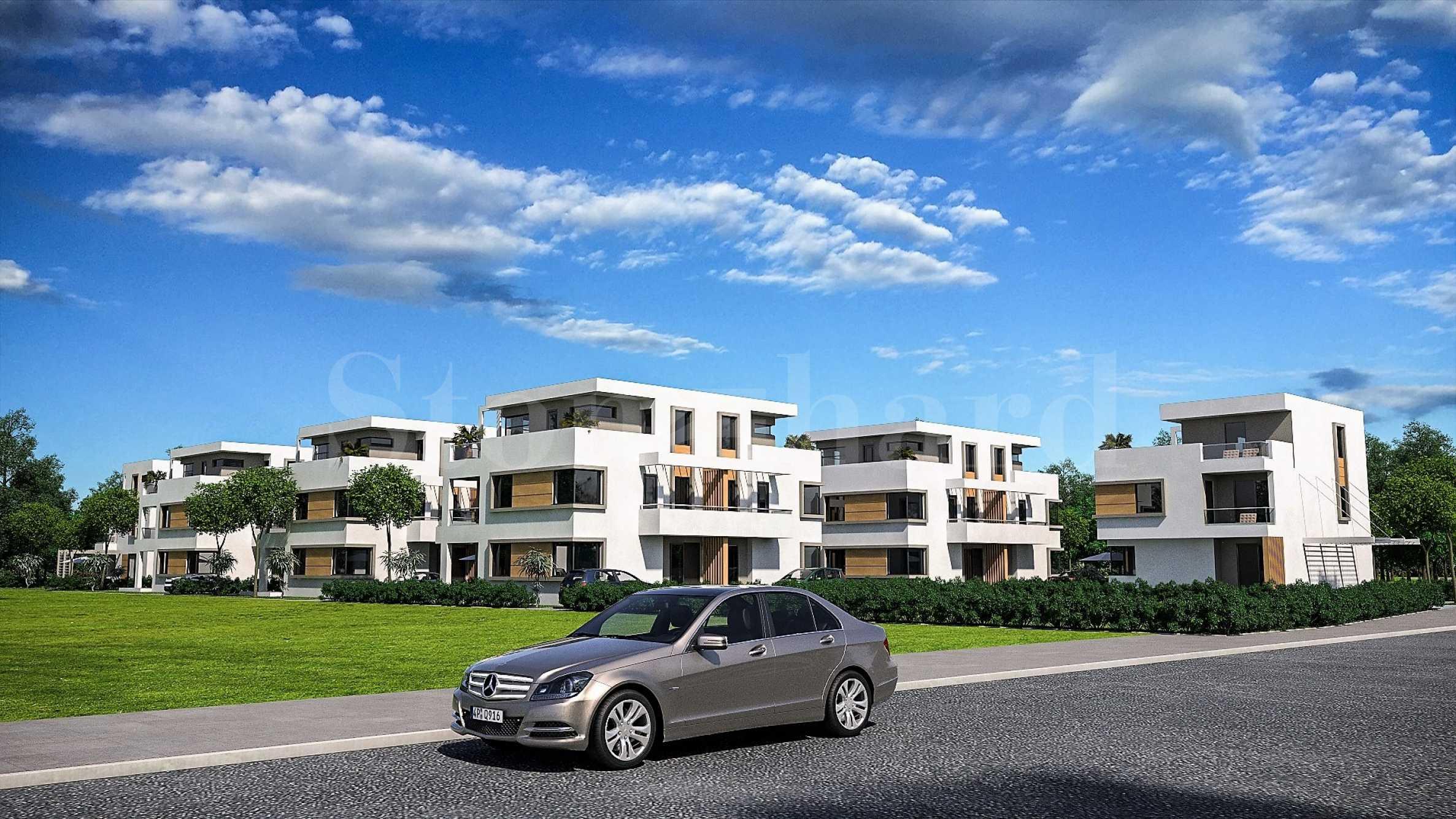 Модерни къщи с градини и паркоместа в елитния район на Сарафово1 - Stonehard