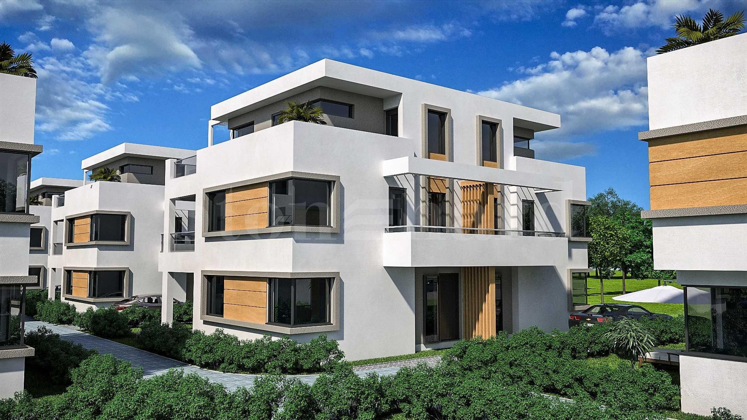 Модерни къщи с градини и паркоместа в елитния район на Сарафово2 - Stonehard