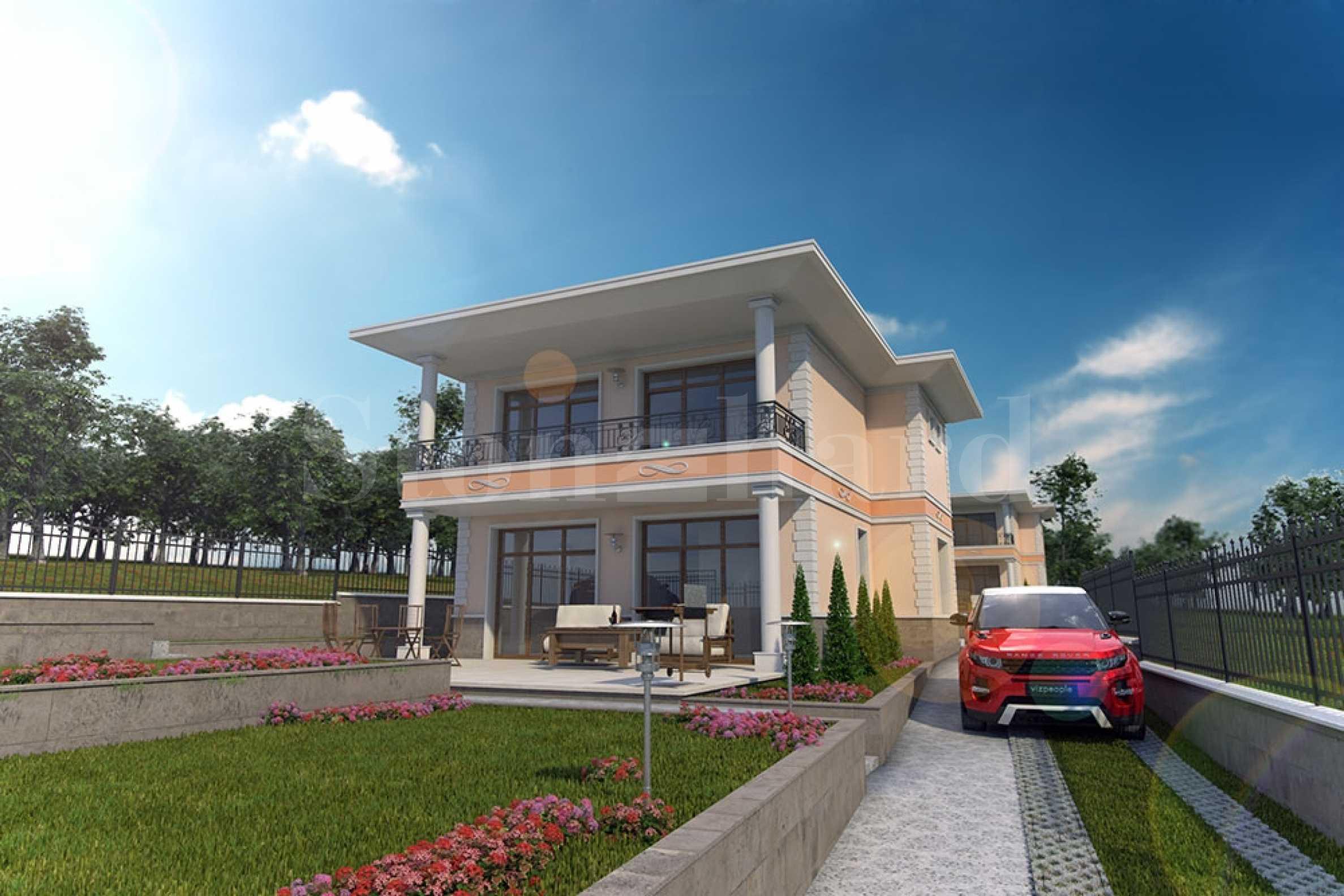 Извънградски къщи с градини и паркоместа, с гледка към Бургаския залив1 - Stonehard